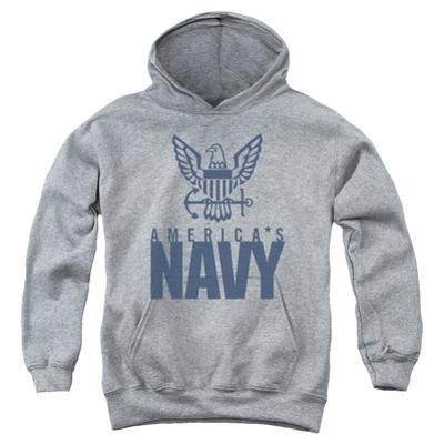 Youth Hoodie: Navy - Eagle Logo