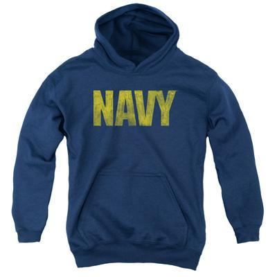Youth Hoodie: Navy - Logo