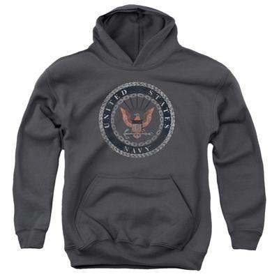 Youth Hoodie: Navy - Rough Emblem