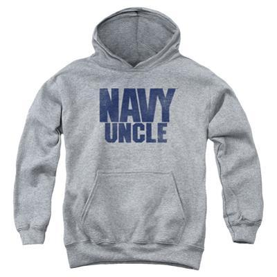 Youth Hoodie: Navy - Uncle