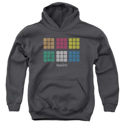Youth Hoodie: Rubik's Cube- Minimal Squares