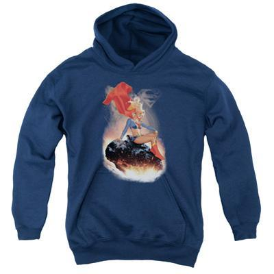 Youth Hoodie: Supergirl- Cosmic Contemplation