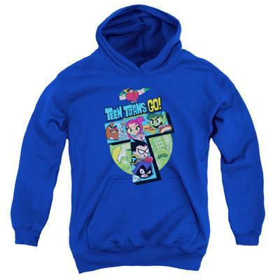 """Youth Hoodie: Teen Titans Go- Action """"T"""""""