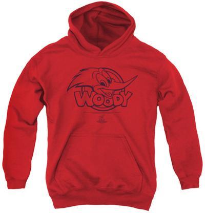 Youth Hoodie: Woody Woodpecker - Big Head