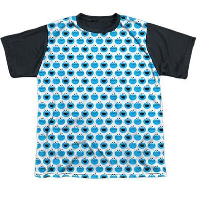 Youth: Sesame Street- Happy Cookie Pattern Black Back