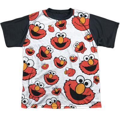 Youth: Sesame Street- Happy Elmo Collage Black Back