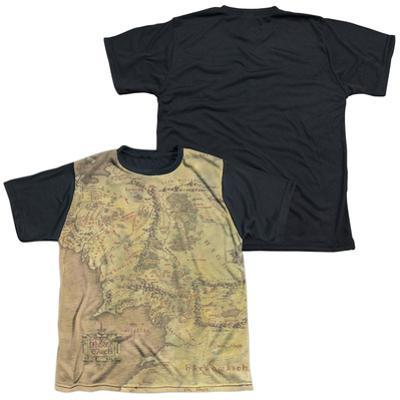 Youth: The Lord Of The Rings: The Fellowship Of The Ring - Middle Earth Map(black back)