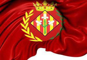 Flag of Lleida City, Spain. by Yuinai