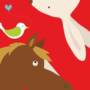 Farm Group: Rabbit and Horse by Yuko Lau