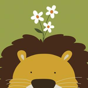 Peek-a-Boo IX, Lion by Yuko Lau