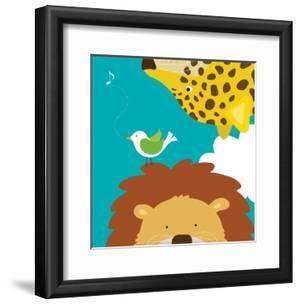 Safari Group: Leopard and Lion by Yuko Lau