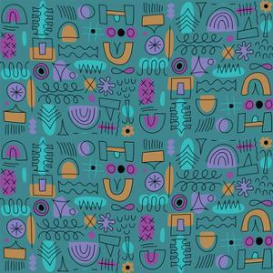 Abstract seamless pattern by Yuliya Drobova
