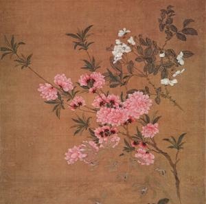 Cherry Blossoms and Wild Roses by Yun Shou-P'ing