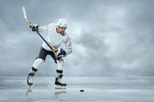 Ice Hockey Player on the Ice by yuran-78