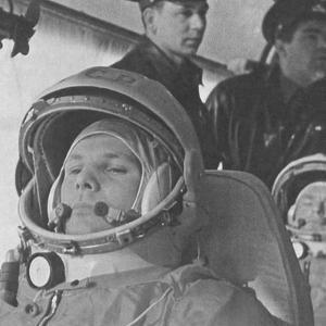 Yuri Gagarin before His Historic 108-Minute Orbital Flight of April 12, 1961