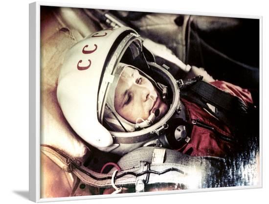 Yuri Gagarin Onboard Vostok 1-Ria Novosti-Framed Photographic Print