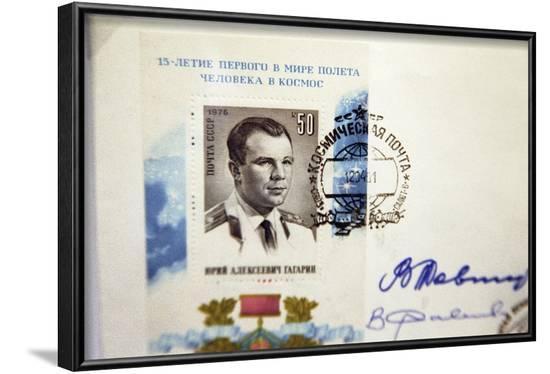 Yuri Gagarin Postage Stamp-Ria Novosti-Framed Photographic Print