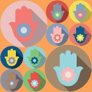 Hamsa Symbol Lotus by Yuriy Borisov