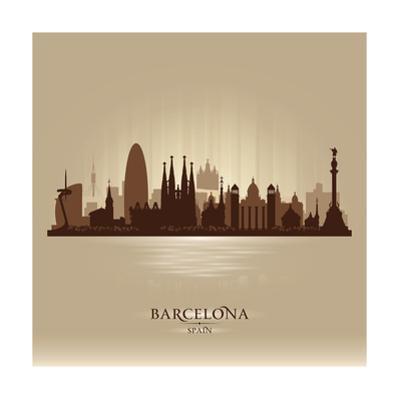 Barcelona Spain City Skyline by Yurkaimmortal