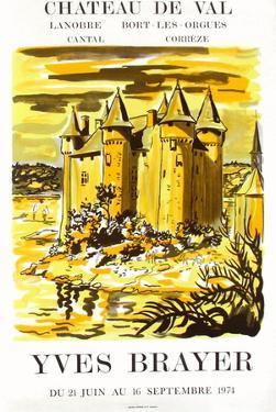 Expo 74 - Château de Bort les Orgues by Yves Brayer