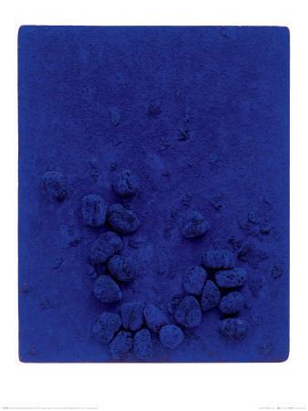 Blaues Schwammrelief (Relief Éponge Bleu: RE19), 1958