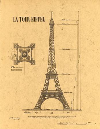 Le Tour Eiffel, Paris, France by Yves Poinsot