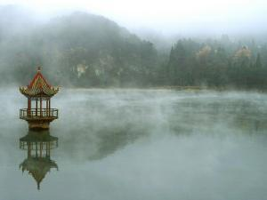 Lushan, China, Central Lake Pavilion by Yvette Cardozo