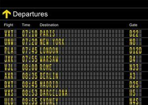 Airport Departures Board by z_i_b_i