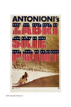Zabriskie Point, US poster, Mark Frechette, Daria Halprin, 1970