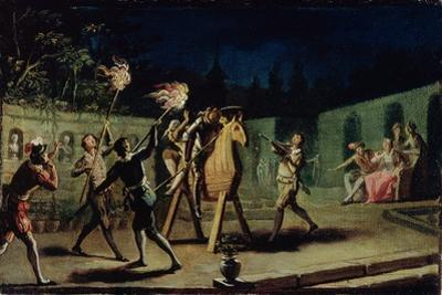 Don Quixote and Sancho Panza Riding Clavileno