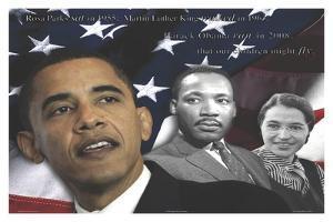 Zachary Brazdis - Barack Obama - Our Children Will Fly Poster by Zachary Brazdis