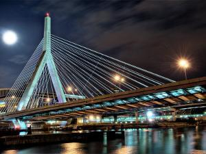 Zakim Bridge, Boston-Night