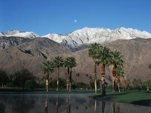 USA, California, Palm Springs, Reflection of San Jacinto Range in Lake by Zandria Muench Beraldo