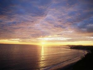 USA, California, Santa Barbara, Sea at Sunset by Zandria Muench Beraldo
