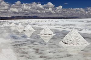 Piles of Salt on the Surface of the Salar De Uyuni Salt Lake, Bolivia by zanskar