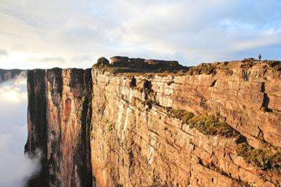 Sheer Cliffs of Mount Roraima - Landscape with Clouds Background by zanskar