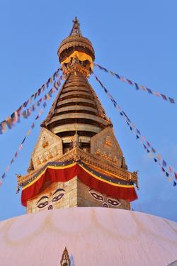 Swayambhunath Temple in Kathmandu, Nepal by zanskar