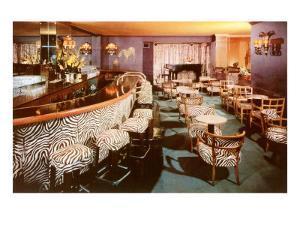 Zebra Print Motif in Cocktail Lounge