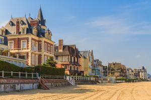 Trouville Sur Mer Beach Promenade, Normandy, France by Zechal