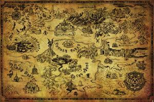 Zelda- Hyrule Map