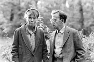 Zelig by WoodyAllen with Mia Farrow and Woody Allen, 1983 (b/w photo)