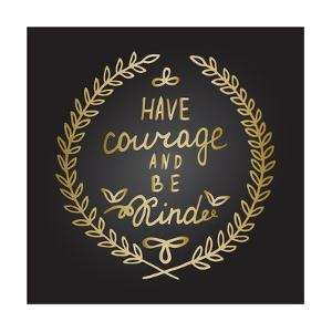 Inspiration Quote in Gold Laurel Leaves Frame by ZenFruitGraphics