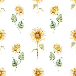 Watercolor Sunflower Pattern by Zenina
