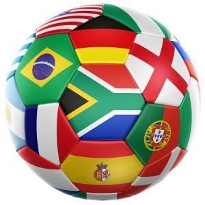 3D Rendering Of A Soccer Ball With Flags Of The Participating Countries In World Cup 2010 by zentilia