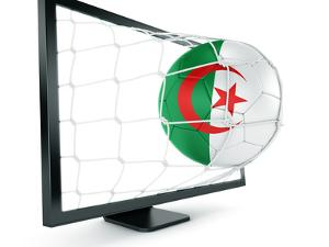 Algerian Soccer Ball Coming Out of a Monitor by zentilia