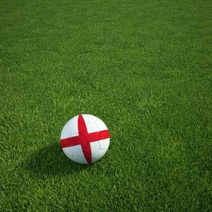 English Soccerball Lying on Grass by zentilia