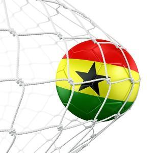 Ghanaian Soccer Ball in a Net by zentilia