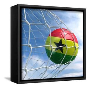 Ghanaian Soccer Ball in a Net by zentilia