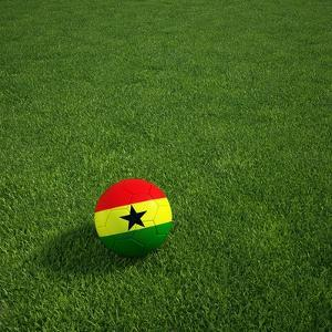 Ghanaian Soccerball Lying on Grass by zentilia