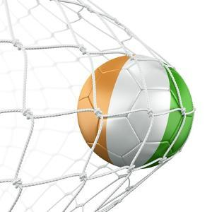 Ivoran Coast Soccer Ball in a Net by zentilia